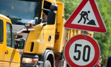 Brīdina par lieliem sastrēgumiem uz Rīgas apvedceļa Salaspils novadā