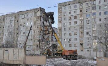 Krievijā gāzes sprādziens sagrauj deviņstāvu māju; 13 cilvēki pazuduši bez vēsts