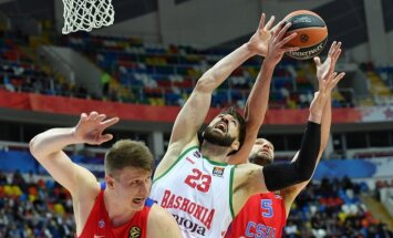 Eirolīgas izslēgšanas spēles iesākas ar CSKA un 'Fenerbahce' uzvarām