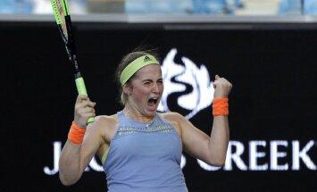 Остапенко преодолела барьер второго круга в Мельбурне