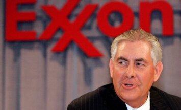 ASV valsts sekretāra amatam izvirzītais Tilersons pārtrauc attiecības ar 'Exxon Mobil'