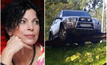 Uz Brasas tilta avarējušo 'Toyota' stūrējusi Aina Poiša
