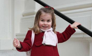 Принцесса Шарлотта в первый раз пошла в детский сад