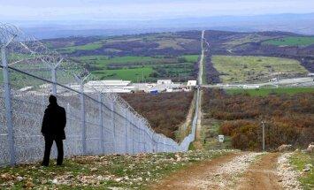 Žogs uz Bulgārijas un Turcijas robežas