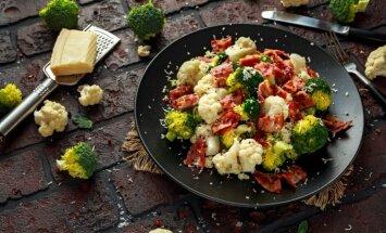Brokoļu un ziedkāpostu salāti: 14 receptes sulīgo dārzeņu nokraukšķināšanai