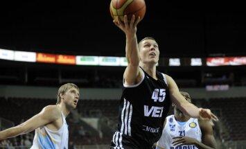 'VEF Rīga' basketbolistiem uzvara Vienotās līgas spēlē Minskā