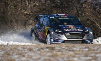 Video: WRC čempions Ožjērs jauno sezonu iesāk ar ātrāko rezultātu testa ātrumposmā