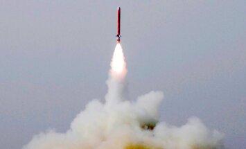 Pakistāna veic pirmo kodolgalviņu nestspējīgas raķetes izmēģinājumu