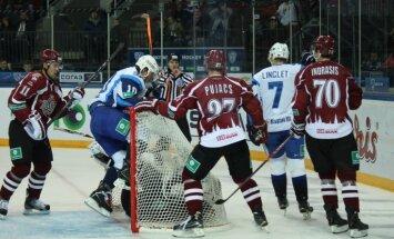 Rīgas 'Dinamo' ar ceturto zaudējumu pēc kārtas turpina neveiksmju sēriju