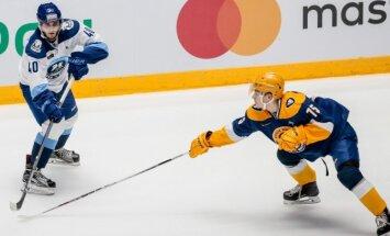 Aizsargs Svars palīdz Rietumu konferences komandai uzvarēt MHL Zvaigžņu spēlē