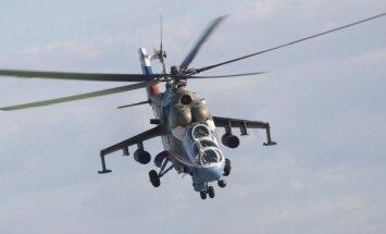 Sīrijā avarējis Krievijas Mi-24 helikopters