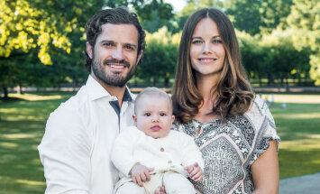 Publiskoti apburoši mazā Zviedrijas prinča Aleksandra foto