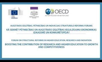 Kā Latvijas augstākā izglītība stiprinās ekonomiku? Konferences video tiešraide