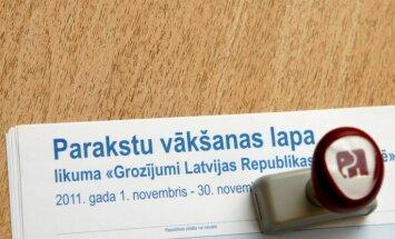 Tiesā prasa atklāt par krievu valodu parakstījušos deputātus