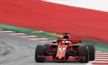 Fetels ātrākais Austrijas 'Grand Prix' trešajā treniņbraucienu sesijā