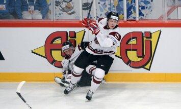 Latvijas hokeja izlase pasaules čempionāta spēlē tiekas ar Čehiju