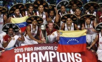 Venecuēlas basketbola izlase pirmoreiz vēsturē uzvar Amerikas čempionātā