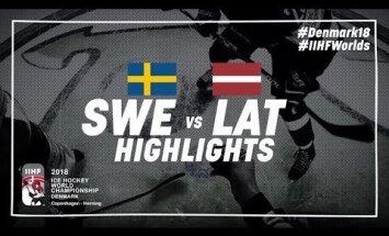Video: Latvijas hokejisti zaudē, bet ar teicamu sniegumu priecē līdzjutējus