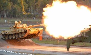 Video: Ņižņijtagilā demonstrē jaunāko militāro tehniku