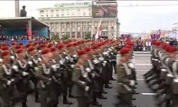 Video: Doņeckā sarīkota 9. maija parāde