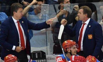 Harijs Vitolins, Oleg Znarok, coaches Russian team