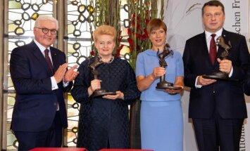Латвия, Литва и Эстония награждены Вестфальской премией мира