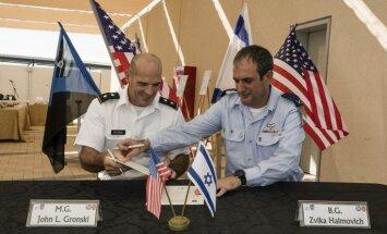 Izraēla un ASV atklāj pirmo amerikāņu militāro bāzi Izraēlā