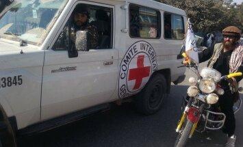 Afganistānas 'Taliban' atsauc drošības garantijas Sarkanajam Krustam