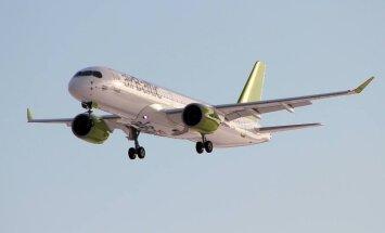 ФОТО: airBaltic получила восьмой самолет Bombardier CS300
