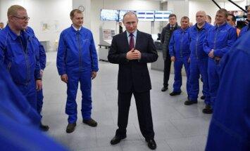 Foto: Kā Putins Arktikā sašķidrinātās dabasgāzes projektu atklāja