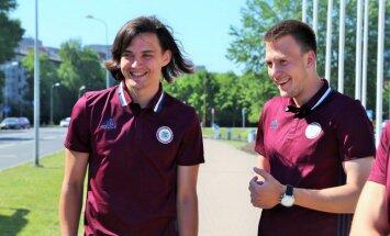 Foto: Latvijas futbola izlase uzsāk gatavošanos Baltijas Kausam