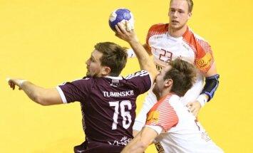 Latvijas handbola izlase Rīgas domes kausa pirmajā mačā piekāpjas Nīderlandei