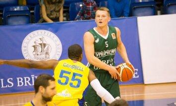 'Valmiera/ORDO' saspringtā spēlē piekāpjas Ventspils basketbolistiem