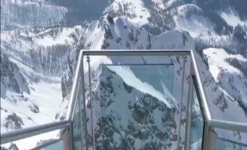 Kāpnes uz nekurieni: vieta, no kuras paveras burvīga Austrijas Alpu panorāma