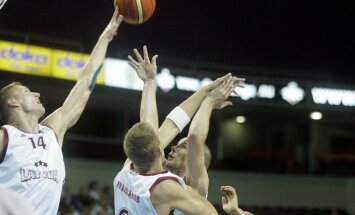 Latvijas vīriešu basketbola izlase pārbaudes spēlē atkārtoti pieveic Kipru