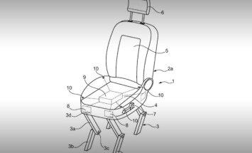 'Ford' patentējis staigājošu auto sēdekli