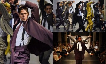ВИДЕО: Испанцы представили коллекцию мужских костюмов в танце
