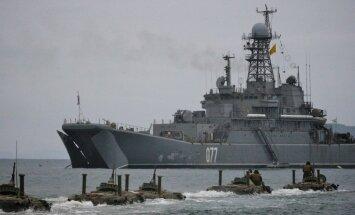 Latvijas ekonomiskajos ūdeņos 'iemaldījies' Krievijas izlūkošanas kuģis