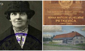Nams Barona ielā un pagātnes liecības - atmiņas un fakti par mecenāti Vilhelmīni Petkeviču