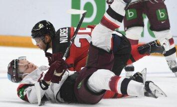 Latvijas hokejisti reizi iemet kanādiešiem un bez uzvarām dodas uz PČ