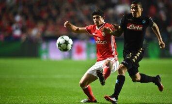 'Napoli' un 'Benfica' komandas nodrošina iekļūšanu UEFA Čempionu līgas izslēgšanas turnīrā