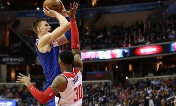Porziņģim 16 punkti 'Knicks' zaudējumā 'Wizards'