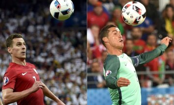 EURO 2016 ceturtdaļfināls: Polija – Portugāle 1:0 (rit 1. puslaiks)