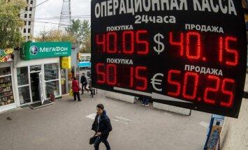 Krievija cenšas glābt ekonomiku; paaugstina procentu likmi līdz rekordaugstam līmenim
