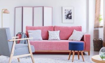 Vasaras drosmīgākais krāsu salikums interjerā – spilgti rozā un jūras zilā