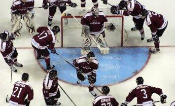 Latvijas hokeja izlase EHC turnīra mačā izbraukumā tiekas ar Dāniju