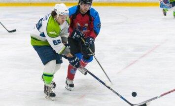 Hokeja kaislības: HK 'Mogo' uzvar 'Zemgale/LLU' pirmajās Latvijas kausa pusfināla spēlēs