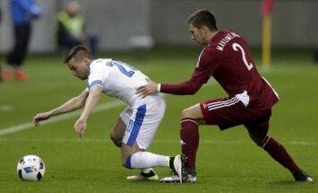 Сборная Латвии сыграла вничью с участником Евро-2016 Словакией