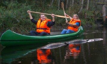 Skaists laivošanas maršruts pa Latvijas - Igaunijas pierobežu
