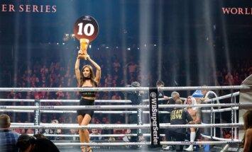 Foto: Aizraujošais boksa vakars ar Brieža un Usika cīņu tā kulminācijā